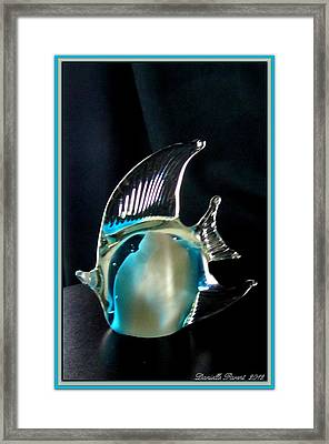 Lights And Glass Study 1  Blue Fish Framed Print by Danielle  Parent
