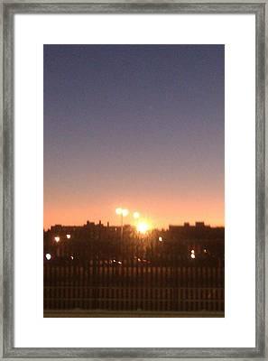 Lights Framed Print by ClockWork Rockawn