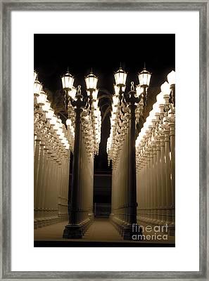 Lights In Art Exhibit In La Framed Print by Micah May