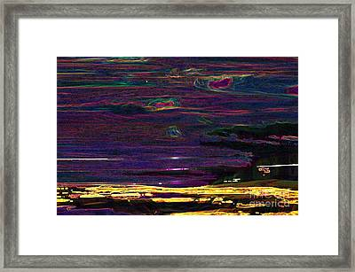 Lights In The Valley Framed Print