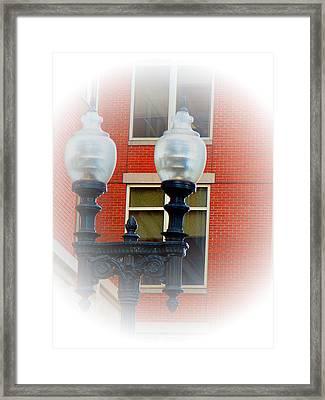 Lights Of Boston Framed Print by Marie Jamieson
