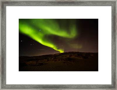 Lights Over The Desert Framed Print