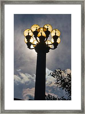 Lights Framed Print by Terry Finegan