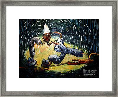 Lightshow Framed Print by Charlie Spear