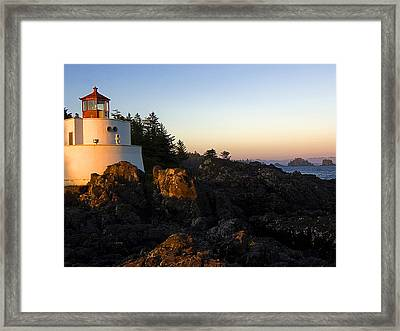 Ligthhouse Framed Print by Dhirendra  Jaiswal