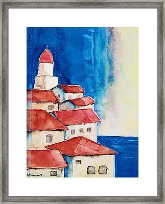 Ligurian Coaast Framed Print by Regina Ammerman