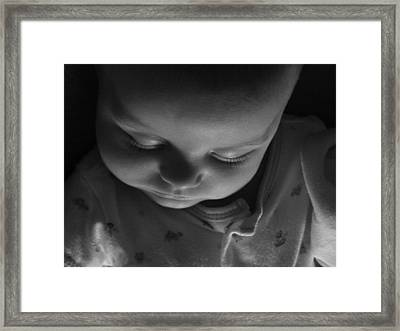Like A Baby...finally. Framed Print by Elizabeth  Sullivan