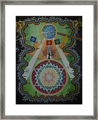 Like A Flower On The Farther Side Of Death Framed Print by Matthew Fredricey
