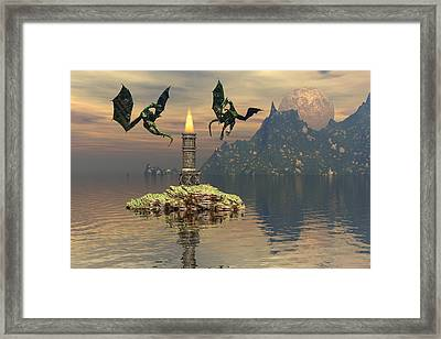 Like A Moth To A Flame Framed Print by Claude McCoy