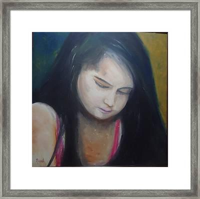 Lil Girl Framed Print by Navjeet Gill