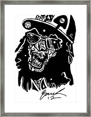 Lil Jon By Kamoni-khem Framed Print by Kamoni Khem