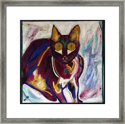 Framed Print featuring the painting Lil Wicci by Leslie Byrne