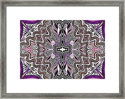 Lilac Garden4 Framed Print by Samar Asamoah