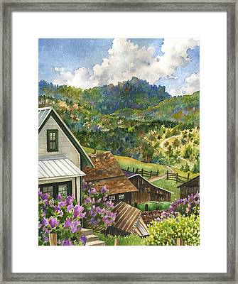 Lilacs At Walker Ranch Framed Print by Anne Gifford
