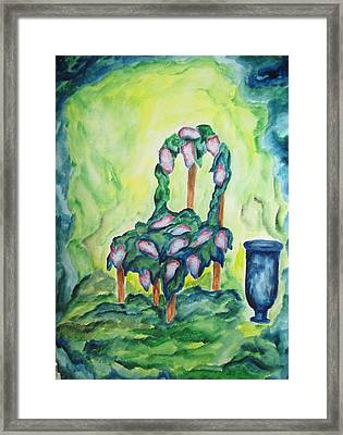 Lilacs In The Garden - Wcs Framed Print by Cheryl Pettigrew