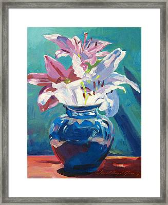Lilies In Blue Framed Print