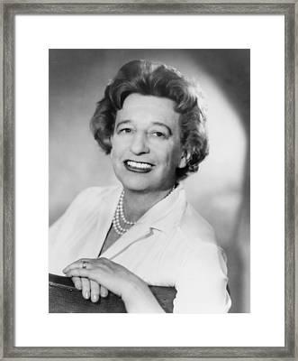Lillian Hellman 1905-1984 Dramatist Framed Print by Everett