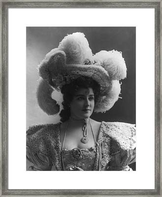 Lillian Russell 1861-1922, American Framed Print by Everett
