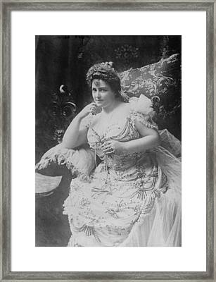 Lillian Russell 1861-1922, The Plump Framed Print by Everett