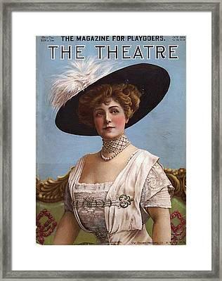 Lillian Russell On Cover Framed Print by Steve K