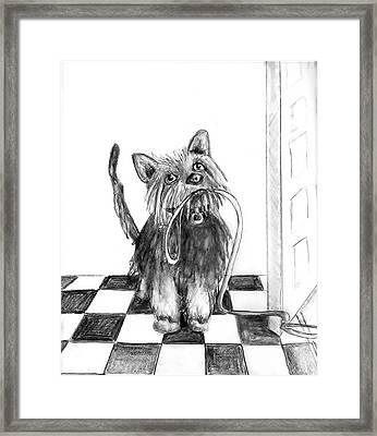 Lillie By The Door Framed Print by Carol Allen Anfinsen