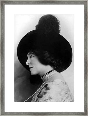 Lillie Langtry In A 1912 Portrait Framed Print