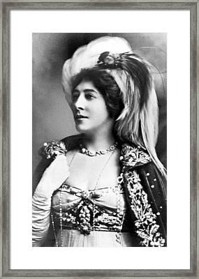 Lillie Langtry In Mademoiselle Mars Framed Print by Everett