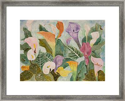 Lillies For Lilly Framed Print by Diane Vasarkovy