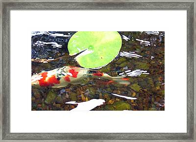 Framed Print featuring the painting Lilly Moon by Dan Menta