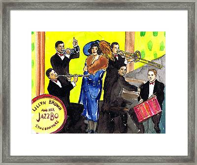 Lillyn Brown And Her Jazzbo Syncapators Framed Print