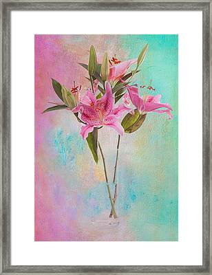 Lily 322a Framed Print by James Bethanis