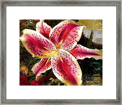 Lily Bouquet Arrangement Framed Print by Merton Allen