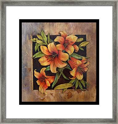 Lily Happy Framed Print