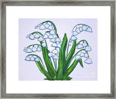 Lily-of-the-valley In Full Glory Framed Print