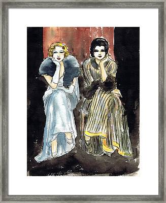 Lilyan And Kay 2 Framed Print by Mel Thompson