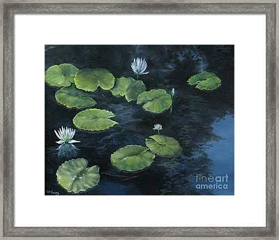 Lilypond Framed Print