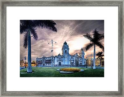 Lima Cathedral Framed Print by Domingo Leiva