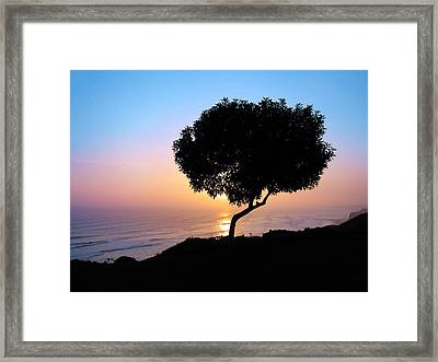 Lima Sunset Framed Print