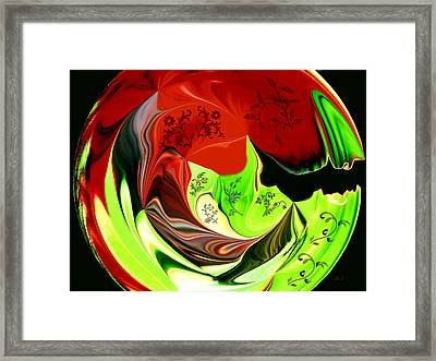 Lime And Leaves Framed Print by Jan Steadman-Jackson