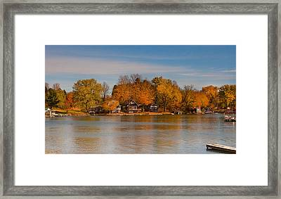 Lime Lake Framed Print by Cindy Haggerty