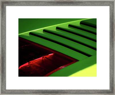 Lime Light Framed Print by Douglas Pittman
