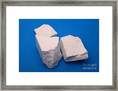 Lime Made From Marble Framed Print
