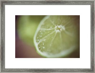 Lime Framed Print by Samantha Wesselhoft Photography