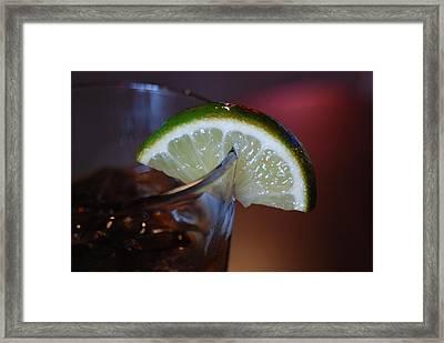 Lime Time Framed Print
