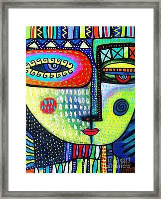 Lime Tree Goddess Framed Print