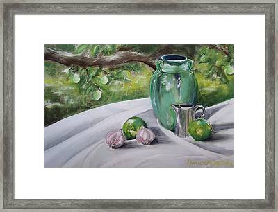 Limes And Mirabelles Framed Print