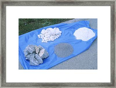 Limestone Industry Products Framed Print