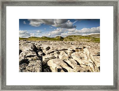 Limestone Pavements At Malham Framed Print by Chris Frost