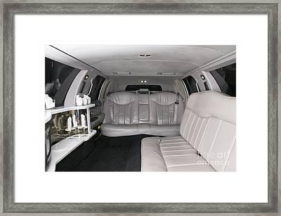 Limousine Interior Framed Print by Andersen Ross