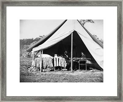 Lincoln & Mcclellan, 1862 Framed Print by Granger